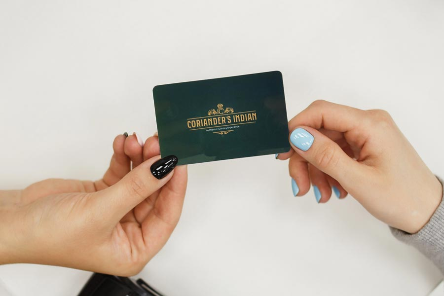 coriander's loyalty card